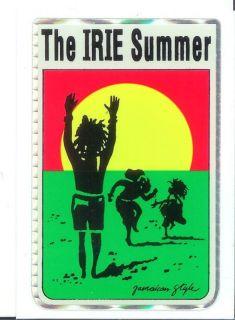 Irie Summer Jamaican Style Vintage Surf Reggae Sticker