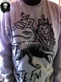 Sweater & T Shirt Deal Light Gray Lion Of Judah IRIE NATION FREE RADIO