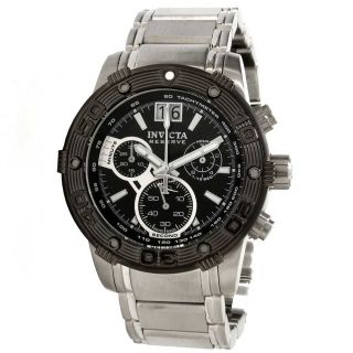 Invicta 10591 Mens Reserve Ocean Speedway Stainless Steel Black Dial