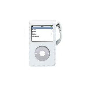 New iLuv I106AWHT Classic White Leather Case for iPod Video