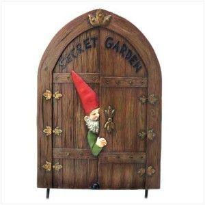 Magical Garden Gnome Secret Hidden Door Yard Art Stake