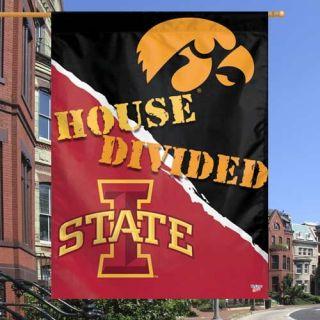 Iowa State Cyclones vs. Iowa Hawkeyes 27 x 37 House Divided Vertical