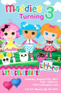 Custom Personalized Lalaloopsy Birthday Party Invitation Many Designs