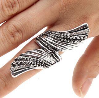 EUR € 3.67   Antik Sølv Angel Wings Ring, Gratis Fragt På Alle