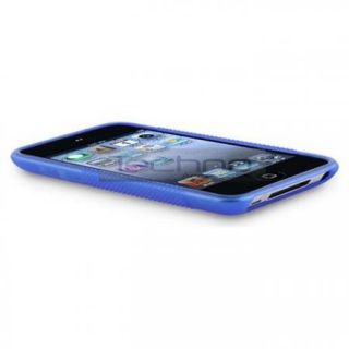 Clear Blue TPU Back Cover Case for iPod Touch 4 4th 4G