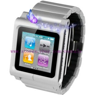 Lynk Silver Watch Band Strap for iPod Nano 6g 7g Silver Color