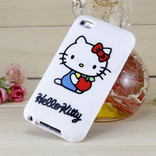 iPod Touch 4 4th Generation Hello Kitty Silicone Rubber Case White