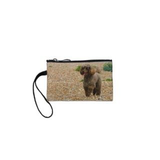 Poodle dog miniature beautiful photo at beach coin wallet