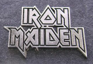 Iron Maiden Logo Pin Badge Heavy 666 Beast Phantom Acacia Fear