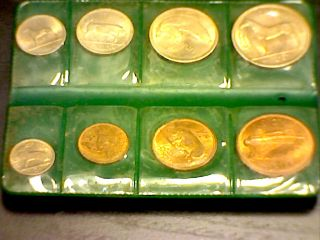 1964 Ireland 7 Coin BU Set Bonus 1959 BU Farthing