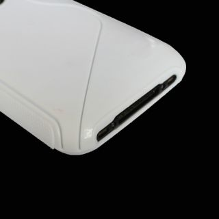 TPU Fitted Case Cover Skin for iPhone 3G 3GS in White s Line Shape