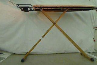Essentials Bamboo 4 Leg Fibertech Wide Top Ironing Board