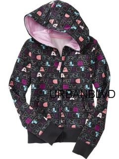 Girls OLD NAVY Techno Hoodie Headphones for  iPod M 8 Shirt Sweater