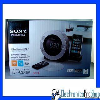 Sony IFCD3IPSIL Clock Radio iPod iPhone Docking Station