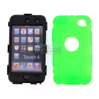 Deluxe 3Piece Hard Case Cover Skin for iPod Touch 4 4G 4th Gen