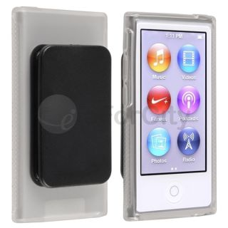 Soft Skin Case Cover with Belt Clip for iPod Nano 7 7g 7th Gen