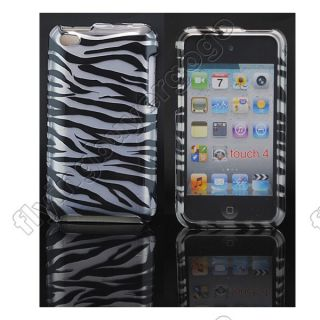 BACK FRONT Zebra HARD SKIN CASE COVER FOR APPLE IPOD TOUCH 4 4G 4TH