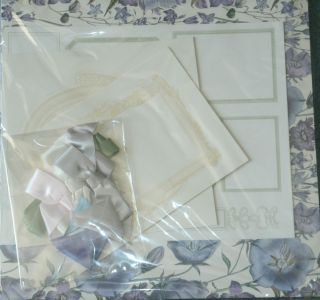 ANNA GRIFFIN FLORAL RIBBON FEMININE SCRAPBOOK PAGE KIT PAPER FRAMES