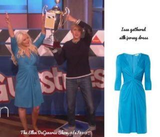 ISSA LONDON Turquoise Aquamarine Silk Jersey Royal Engagement Dress US