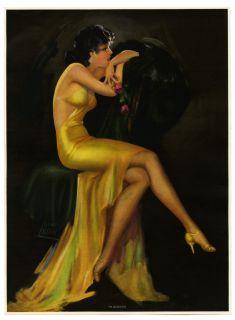 Anique Irene Paen 1930s Pin Up Prin Sensual Ar Deco Golden Girl