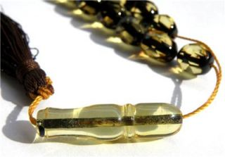 33 Faceted Beads Islamic Prayer from Baltic Amber