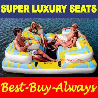 Intex Oasis Paradise Island Inflatable Raft Water Lounge Lake Pool