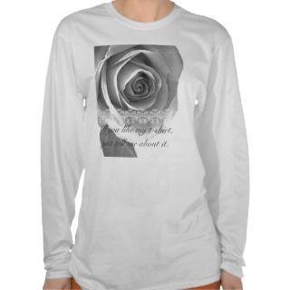 black and white rose T shirt