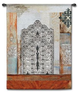 Ironwork Iron Gate Abstract Art Tapestry Wall Hanging