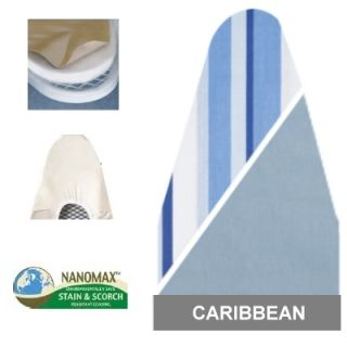 Design 7706 Caribbean Reversible Ironing Board Cover Pad