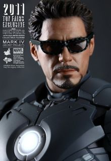 Hot Toys SDCC Ironman 2 Mark IV Tony Stark Secret Ready 1 6 New SDCC