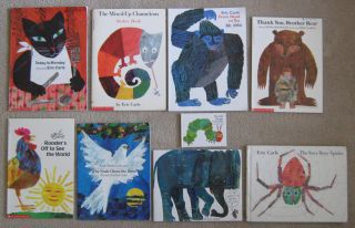 Eric Carle Illus Lot Busy Spider Sticker Book Monday Childrens