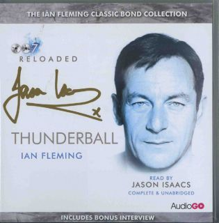 Jason Isaacs Original Autograph James Bond Audiobook CDs Signed