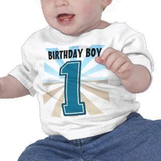 Muchacho del cumpleaños, número grande uno, primer tshirts de