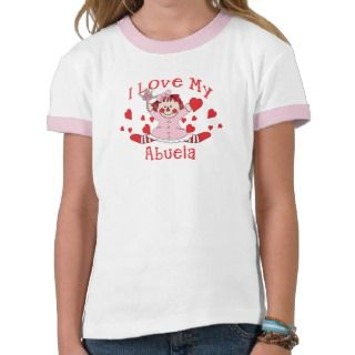 love My Abuela Rag Doll & Hearts Tee Shirts