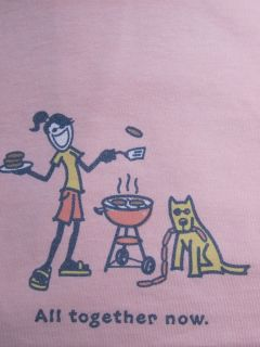 Life Is Good All Together Now Jackie Rocket BBQ Grill Picnic Pink