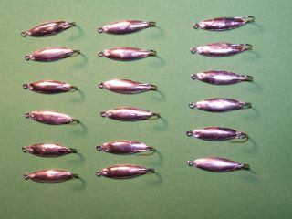 18 Unpainted Willow Leaf Ice Fishing Jigs Mousies for Perch and