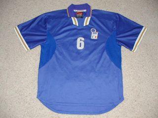 RARE Italy Soccer Team Player #6 Nesta Match Worn Jersey Shirt Game