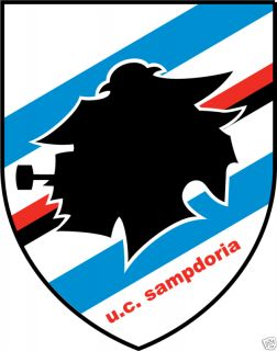 Sampdoria Italy Soccer Car Bumper Sticker 4X5