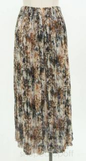 Issey Miyake Multicolor Abstract Print Pleated Skirt Size 3