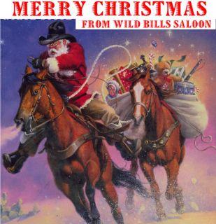 FREE SHIP NEW TEXAS Santa CLAUS Cowboy Christmas doll decoration! 17