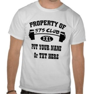 Property Of 375 Club XXL Ladies Destroyed T Shirt