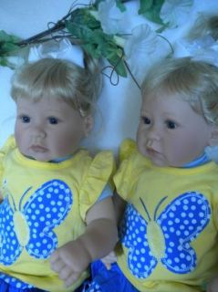 Lot of 2 Lee Middleton Dolls Redressed New Butterfly Dreamer