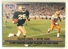 1991 Pro Set 36 Notre Dame Raghib Ismail