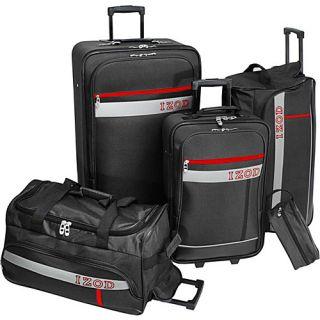 IZOD Luggage Metro 5 Piece Luggage Set Black