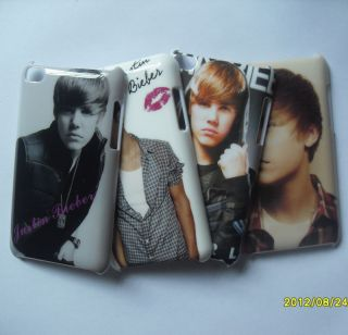 4pcs New Justin Bieber Hard Back Cover Case for Apple iPod Touch 4th