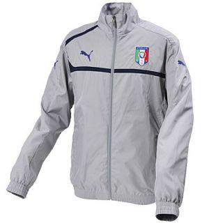 ITALIA Italy Grey PUMA Woven Track Jacket Warm Up Soccer MENS L NEW