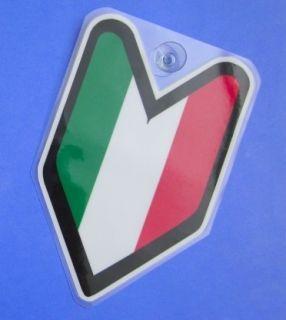 JDM Driver Badge Italy Italian Car Decal Flag not Vinyl Sticker