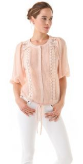 Tbags Los Angeles Lace Front Blouse