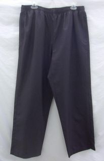 IZOD Womens Athletic Wind Track Pants XL Black Unlined