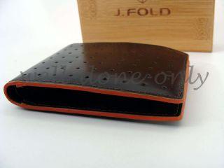 Fold Lounge Master Brown Orange Flat Slimfold Men Billfold Leather